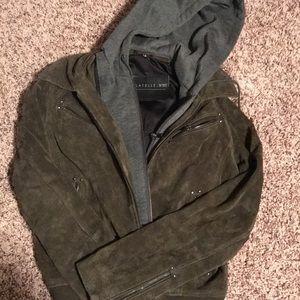 Bagatelle Suede Hooded Jacket